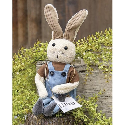 Buddy Bunny Fabric Rabbit in Overalls
