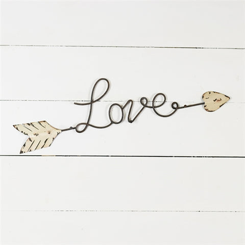 Love Script Arrow Wall Hanging