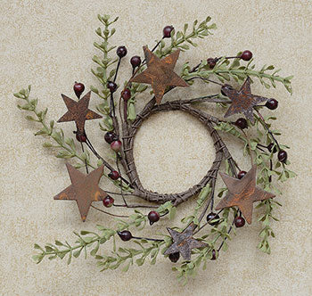 Rosehip & Herb Rusty Star Ring