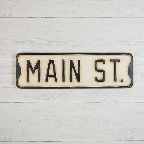 "Vintage-Style ""MAIN ST"" Street Sign 20"" L"