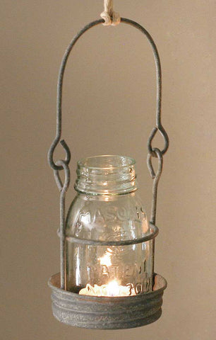 ¼ Pint Hanging Mason Jar Candle Holder