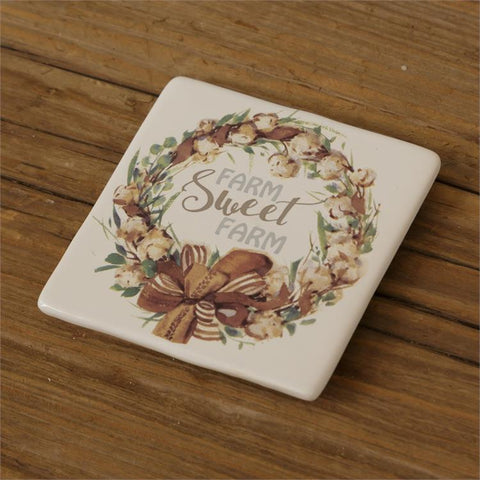 Set of 4 Farm Sweet Farm Coasters