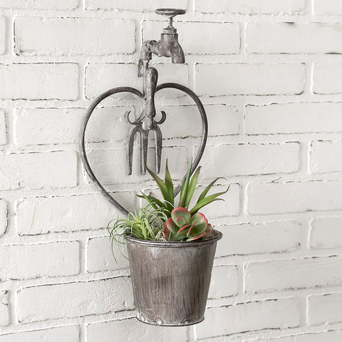 Heart Faucet Wall Garden Planter