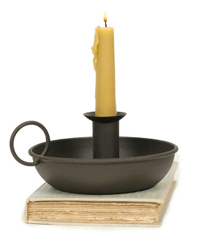 Rustic Brown Flat Dish Candle Holder