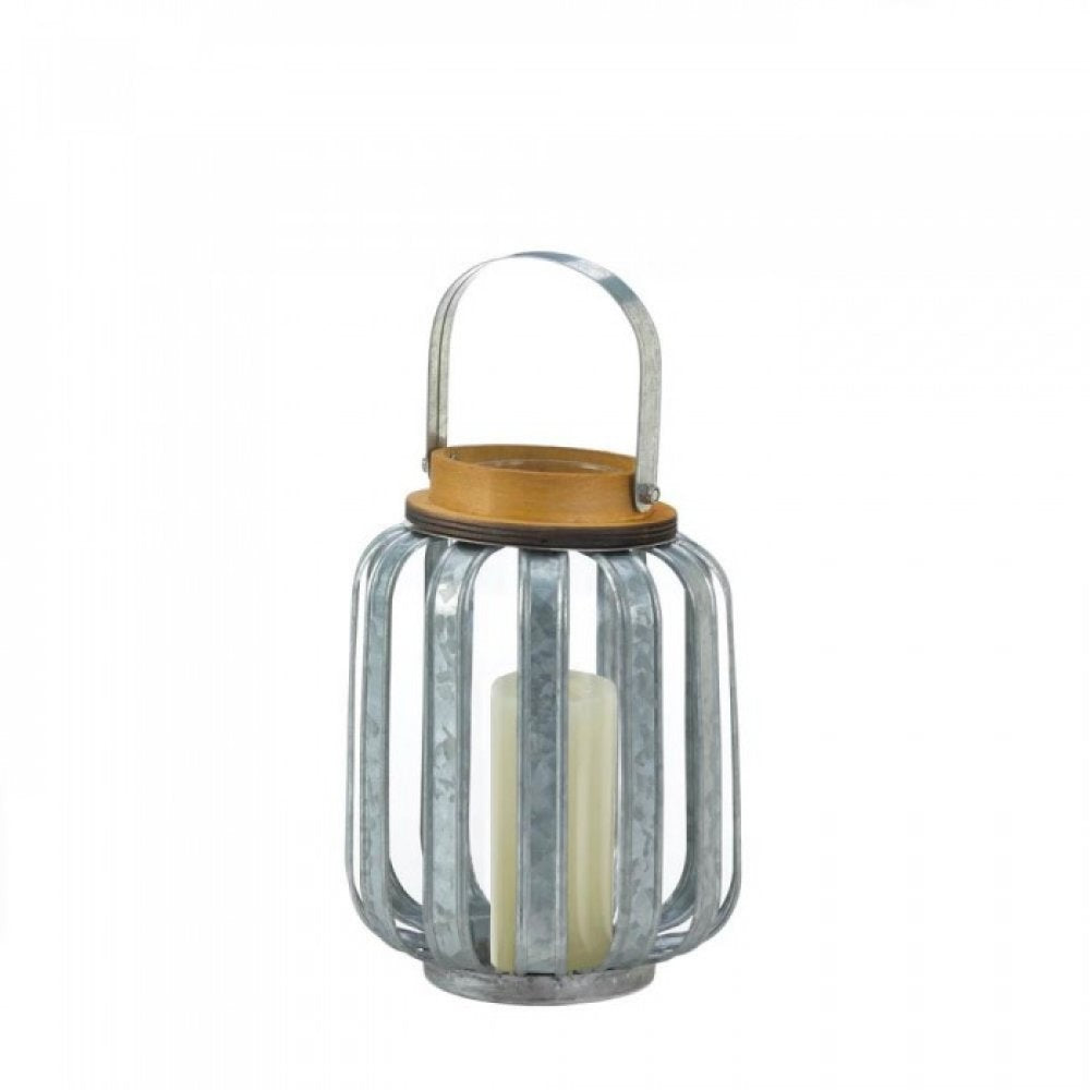 Small Galvanized Metal Lantern