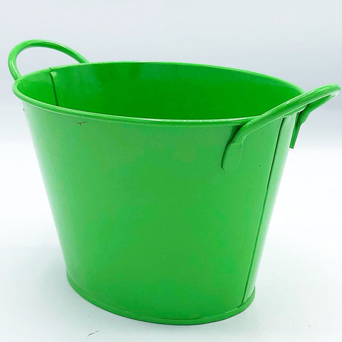 "Green 4"" H Oval Shaped Goodie Bucket"