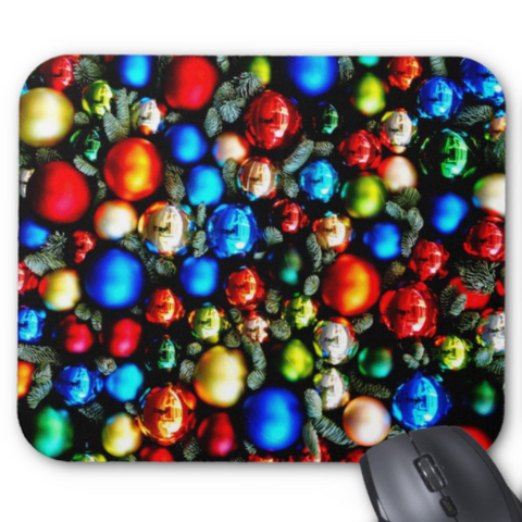 Christmas Mousepad - ShinyTree Ornaments - Mouse Pad