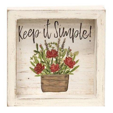 Keep It Simple Blooming Flower Pot Shadow Box