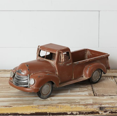 Antiqued Brown Nostalgic Tabletop Truck
