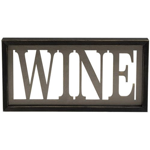 Wine Cut-out Framed Sign