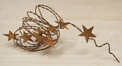 "Rusty Star Garland 70"" Long"