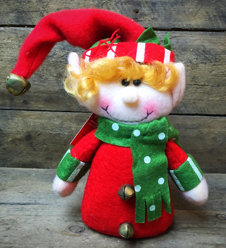 Little Elf Helpers Ornaments Christmas Fabric