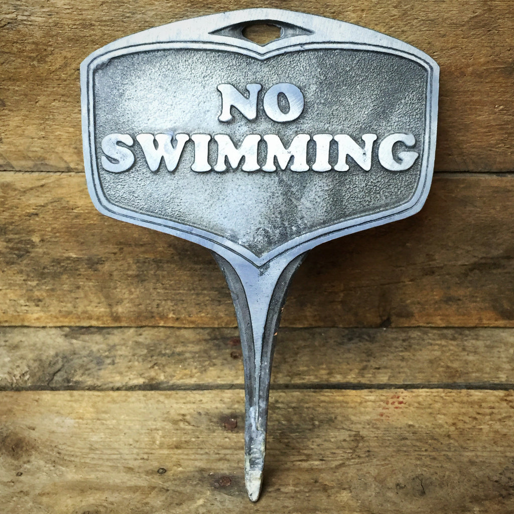 No Swimming - Metal bulb marker