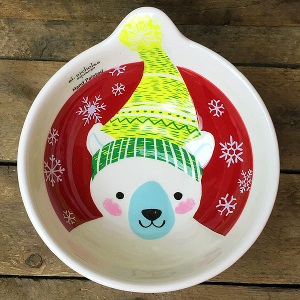 St Nicholas Square Polar Bear Bowl North Pole Collection