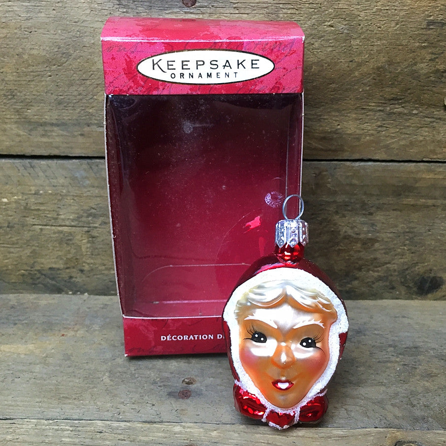 Li'l Mrs Claus Hand Blown Hallmark ornament 2000