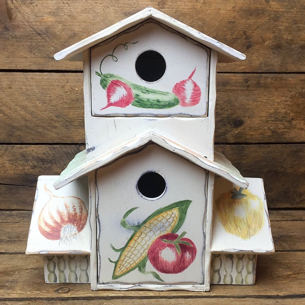 Vegetables and Fruits Tall Deco Birdhouse with Drawers