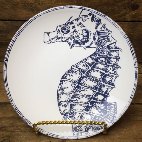 "222 Fifth Deep Sea, Seahorse Appetizer 6.5"" Plate"