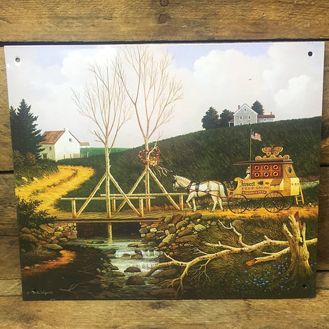 Charles Wysocki Traveling Insect Peep Show Decorative Tin Sign
