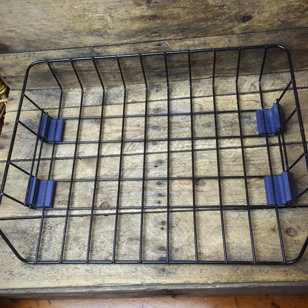 Black Metal Grid Basket with Rubber Feet, Great In-Basket for Papers