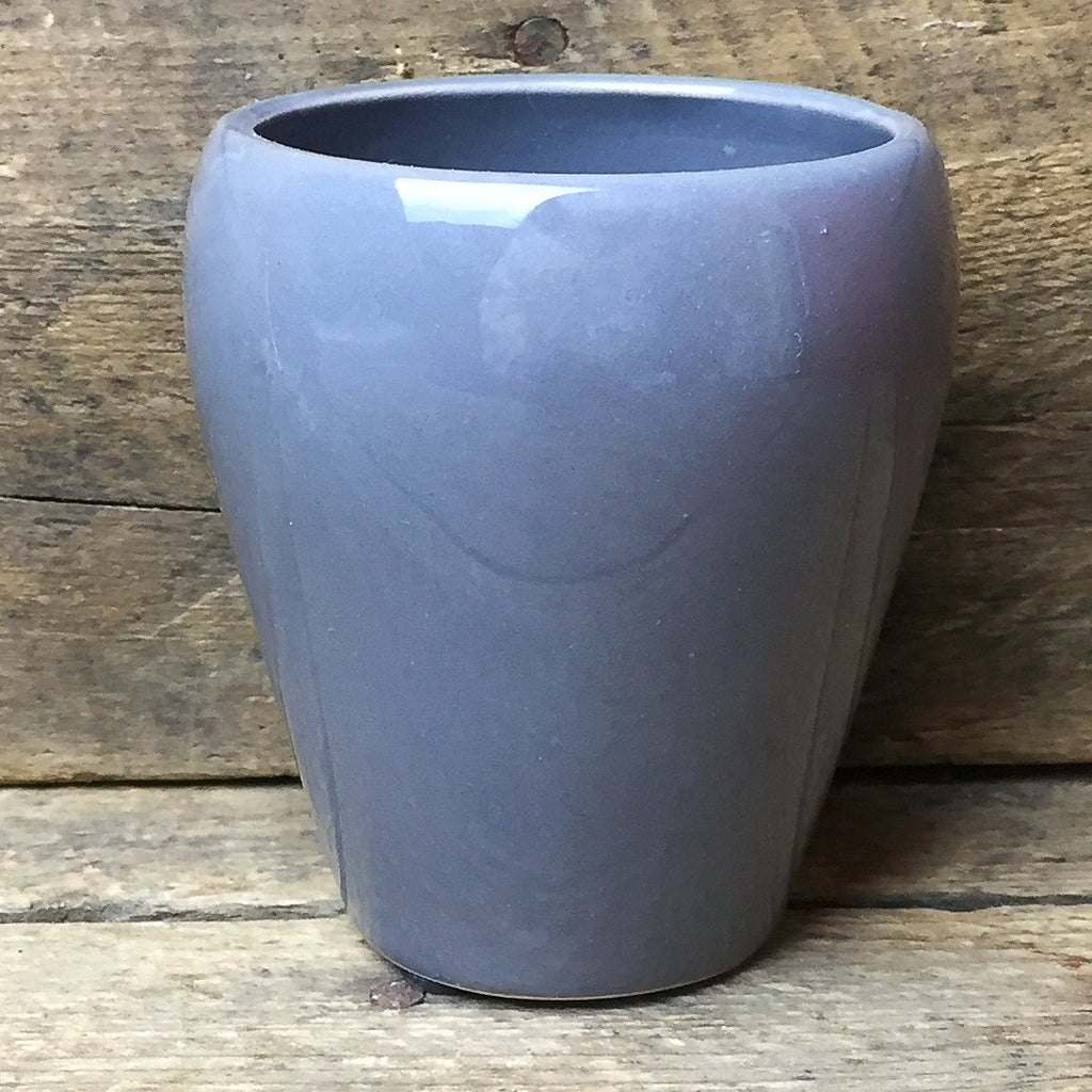 "Mini Gray Ceramic Vase 3"" tall"
