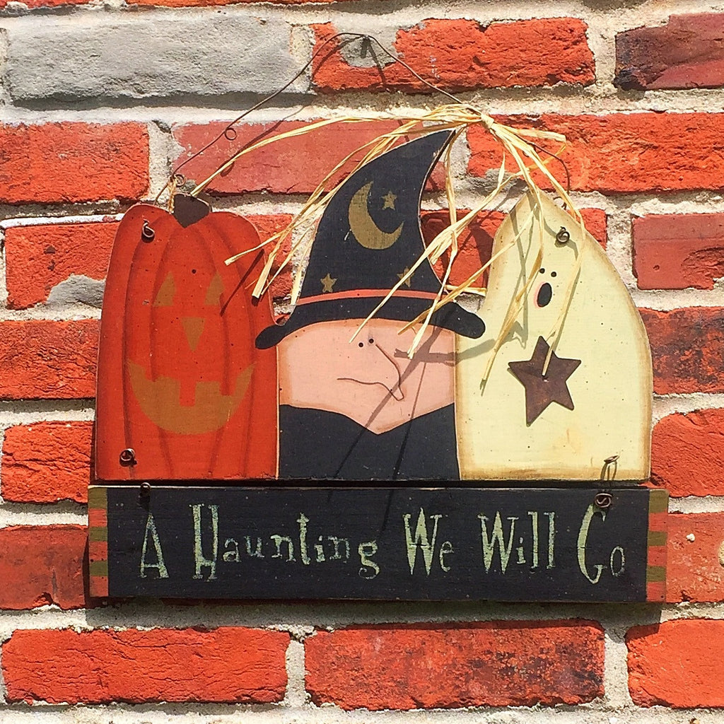 Ohio Wholesale Haunting Halloween Hanging Sign ghost witch pumpkin