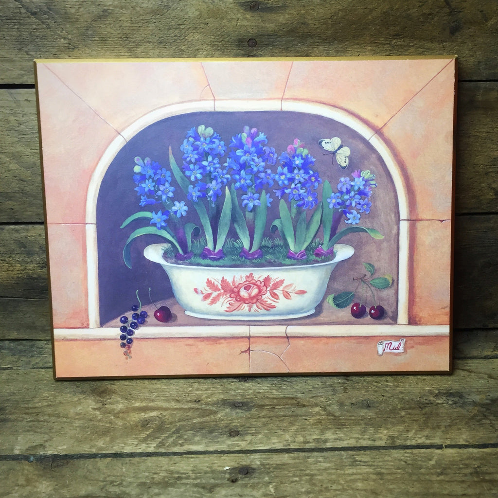 Hyacinth Floral Artwork Plaque Interior Accents