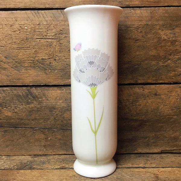 "Chime Floral with Butterfly Vase San Francisco 6.5"" H"