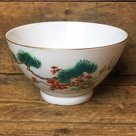 Vintage Rice Bowl with Tree Branch & Flowers Design Made in China