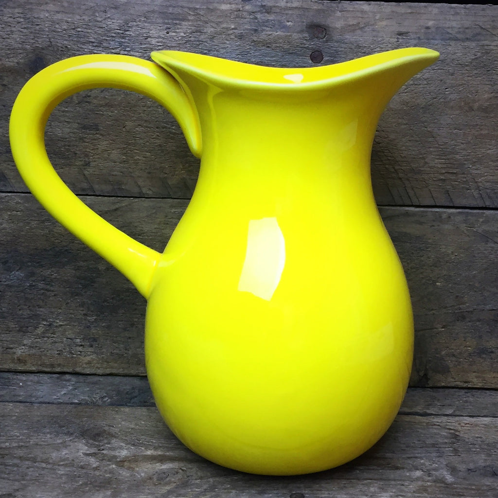 "Yellow Ceramic Pitcher 6.5"" H"