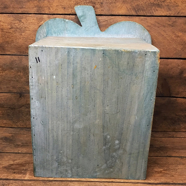 Rustic Apple Shaped Deep Wooden Tabletop Box