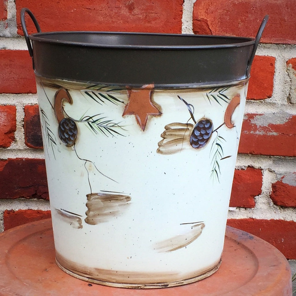 Ohio Wholesale Winter Rustic Bucket 8.5""