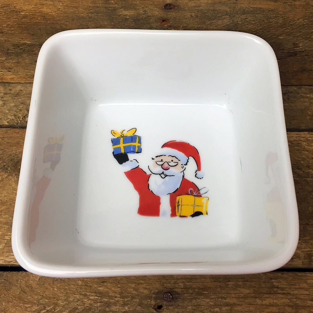 Ashley Cooper Santa with Presents Square Bowl, Holiday Magic Collection