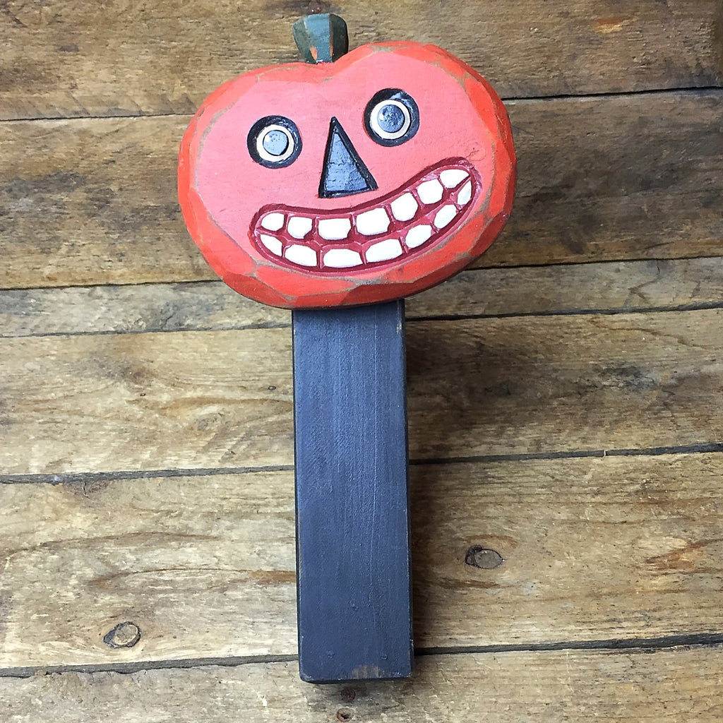 Wooden Jack O' Lantern Rachett Noise Maker Halloween Ohio Wholesale