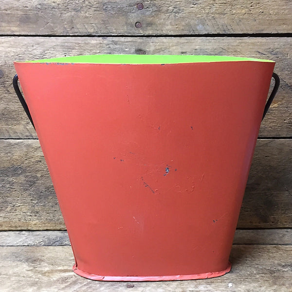 Jack O' Lantern Tin Wall Bucket