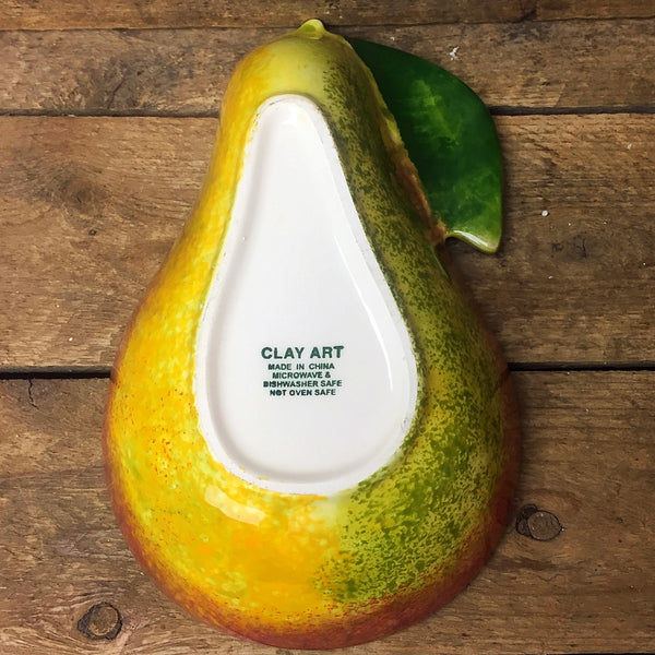 Clay Art Pear Shaped Dip Relish Bowl