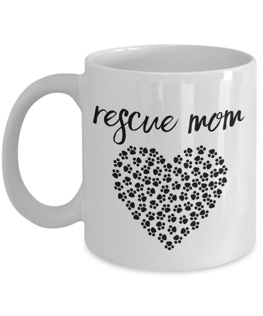 Pet Rescue Mug - Rescue Mom - 11 oz Gift Mug