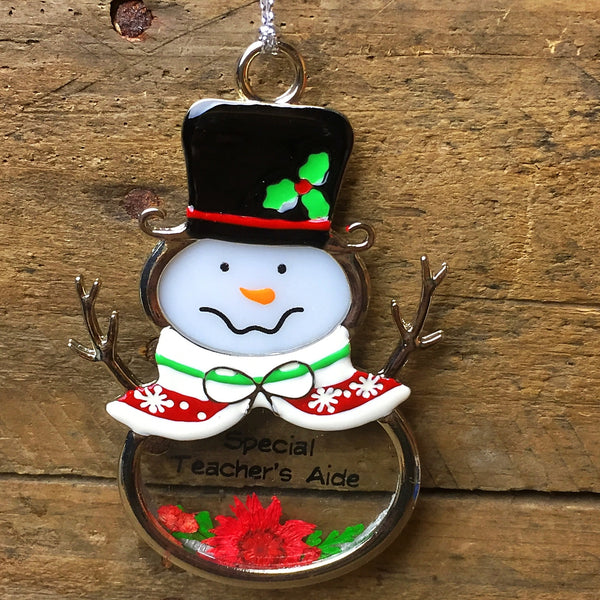 Ganz Snowman Ornament - Special Teacher's Aide