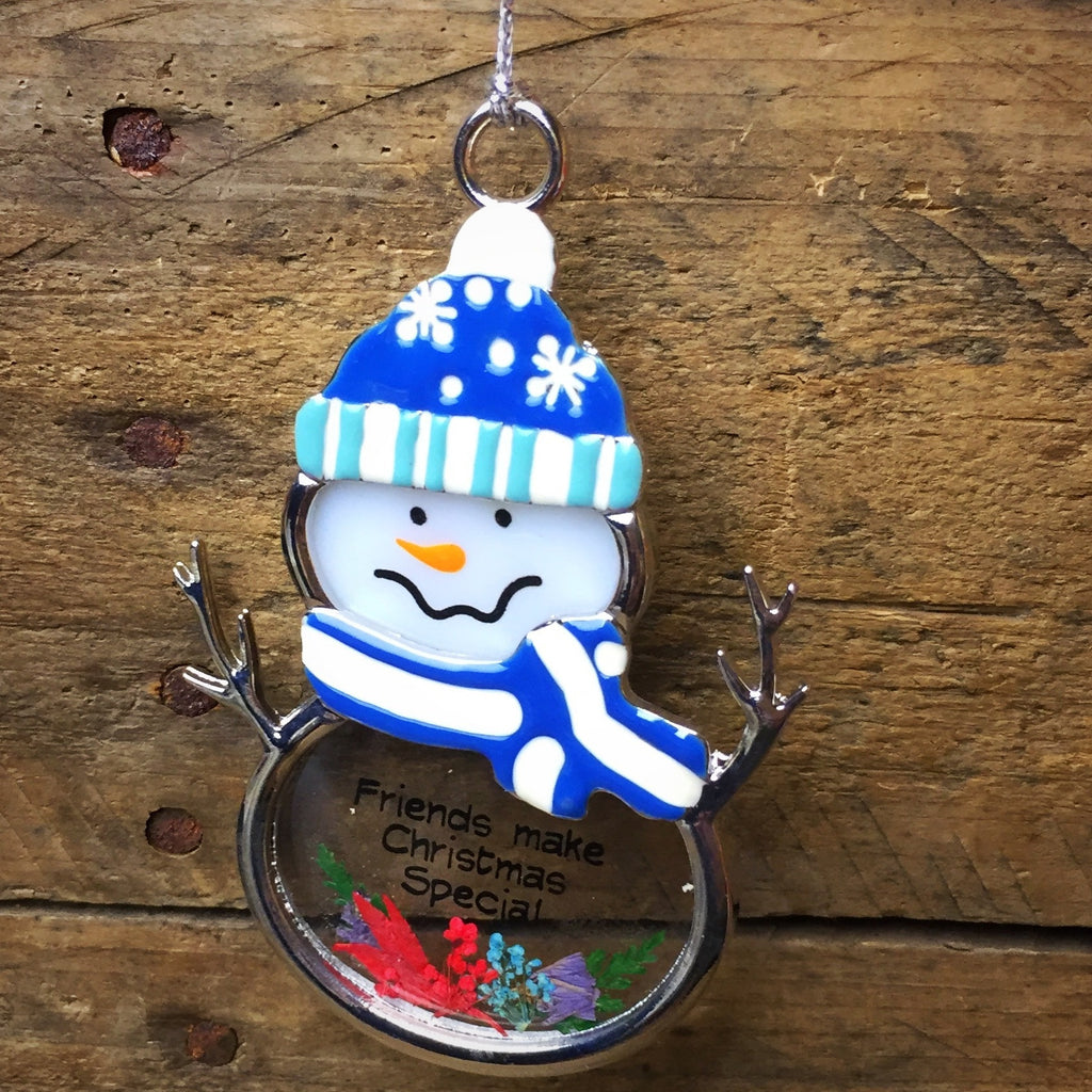 Ganz Snowman Ornament - Friends Make Christmas Special