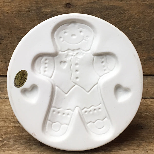 Gingerbread Man Cookie Stamp - gingerbread and hearts design