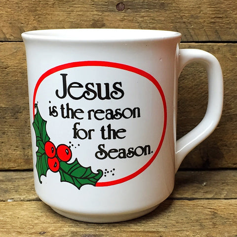 Vintage Jesus is the Reason for the Season Mug - Christmas