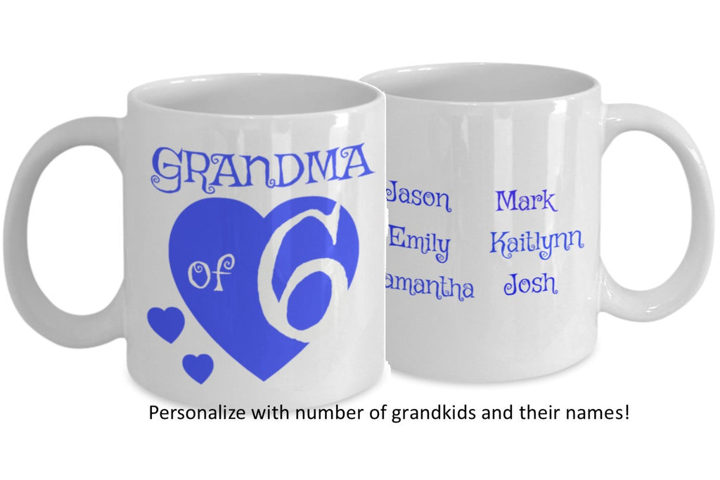 Personalized Grandma Coffee Mug - All of My Grandchildren - 11 oz Gift Mug