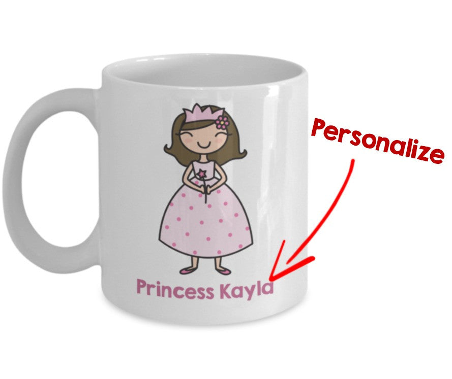 Princess Mug - Personalize with Child's Name - 11 oz Gift Mug