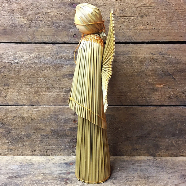 "Vintage Straw Angel 8.5"" H"