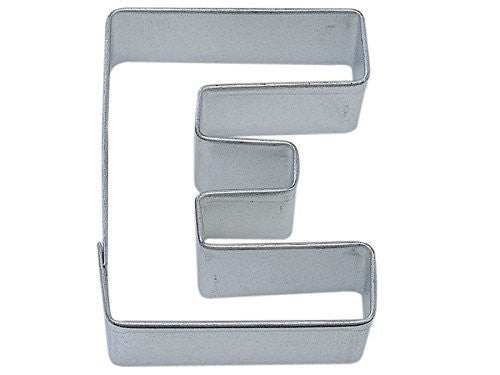 "Letter E Metal Cookie Cutter 3"" H"