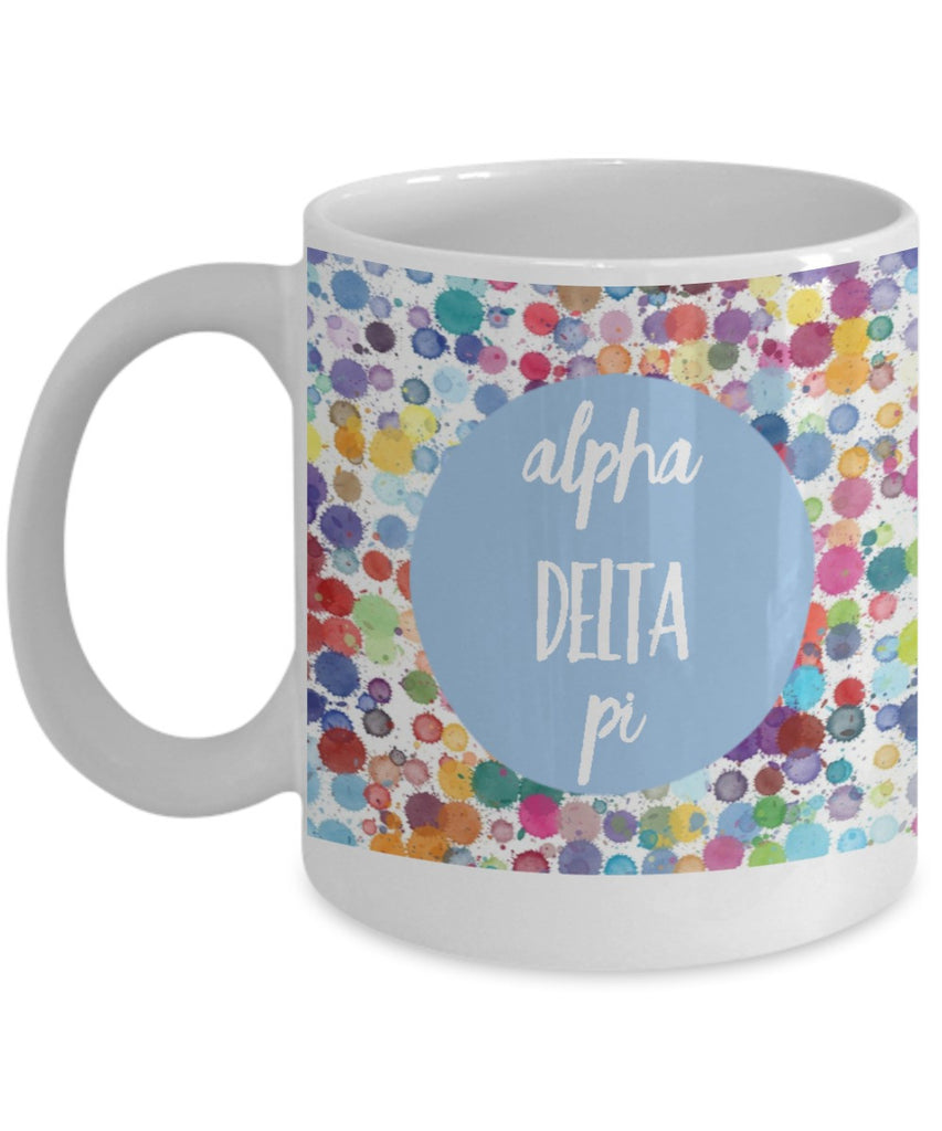 Greek Sorority Mug - Alpha Delta Pi - 11 oz Gift Mug