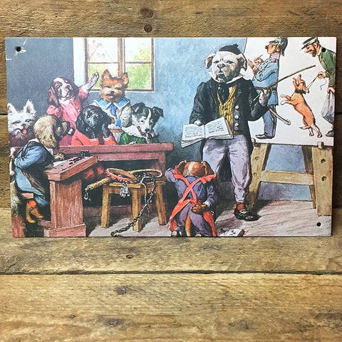"Dogs in the Courtroom Decorative Tin Sign - 6"" x 9"" Ohio Wholesale"