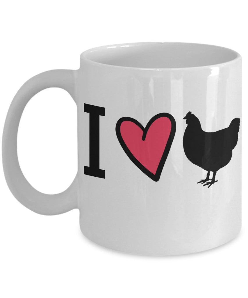 Chicken Lovers Mug - I Love Chickens - 11 oz Gift Mug