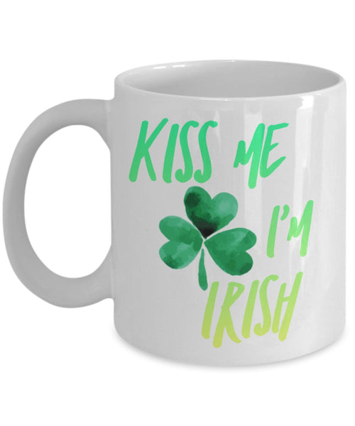 Irish Mug - Kiss Me I'm Irish - 11 oz Gift Mug