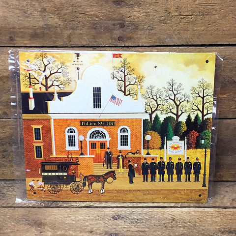 Charles Wysocki Decorative Tin Sign - Roll Call with a Bang