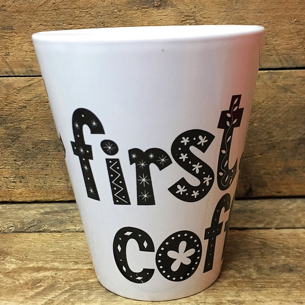 Coffee Addicts Mug - But First Coffee Mug